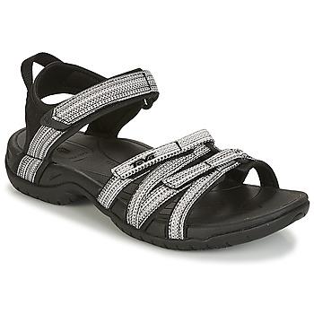 Chaussures Femme Sandales sport Teva TIRRA Noir / Blanc