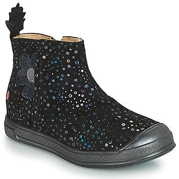 Chaussures Fille Bottes ville GBB ROMANE VTE NOIR CONFETTI DPF/EDIT