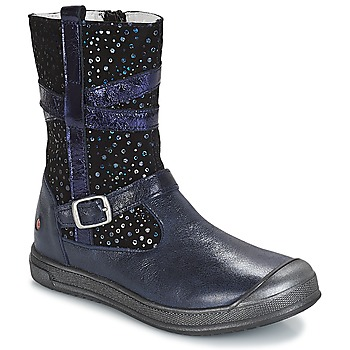 Chaussures Fille Boots GBB NARCISSE VTE MARINE-CONFETTI DPF/EDIT