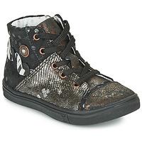 Chaussures Fille Bottes ville Catimini ROUSSEROLLE VTC NOIR-CUIVRE DPF/DOLBY