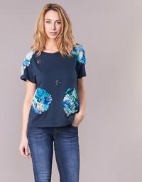 Vêtements Femme T-shirts manches courtes Derhy BANGKOK Marine