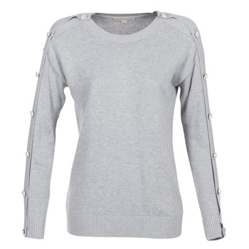 Vêtements Femme Pulls MICHAEL Michael Kors GEM BUTTON SWTR Gris