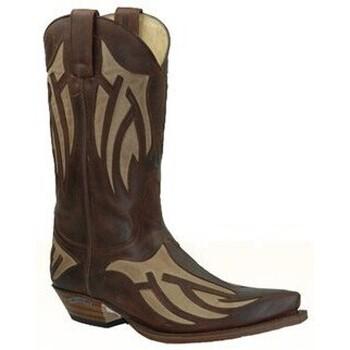 Chaussures Homme Bottes ville Sendra boots Bottes Western en cuir Vachette ref_sen21904-marron marron