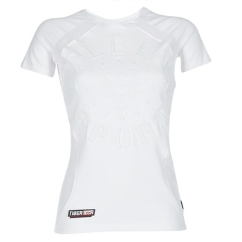 Vêtements Femme T-shirts manches courtes Philipp Plein Sport FORMA LINEA Blanc / Blanc