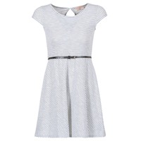 Vêtements Femme Robes courtes Moony Mood IKIMI Blanc / Marine