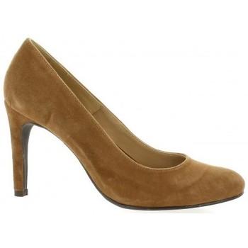 Chaussures Femme Escarpins Pao Escarpins cuir velours Camel