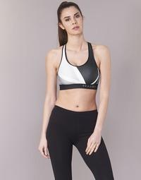 Vêtements Femme Brassières de sport Under Armour ARMOUR MID KEYHOLE PRINT Noir / Blanc