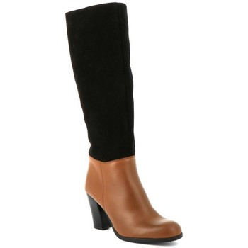 Chaussures Femme Bottes ville Playa Collection Botte cuir ALANIS Camel