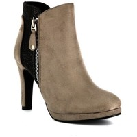 Chaussures Femme Bottines Playa Collection Bottine paillettée LADY Taupe