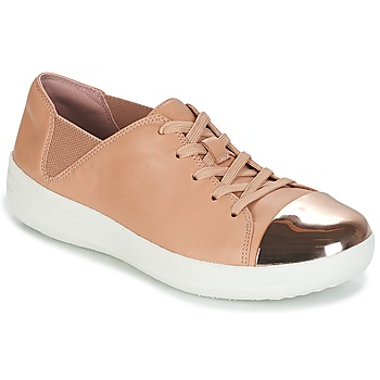Chaussures Femme Baskets basses FitFlop F-SPORTY MIRROR-TOE SNEAKERS Nude