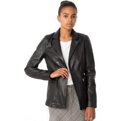 Vêtements Femme Vestes en cuir / synthétiques Rose Garden MIRINA LAMB RUBY BLACK Noir