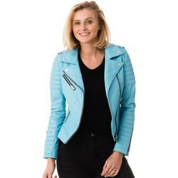 Vêtements Femme Vestes en cuir / synthétiques Serge Pariente HIPSTER GIRLTURQUOISE EDITION LIMITEE Turquoise