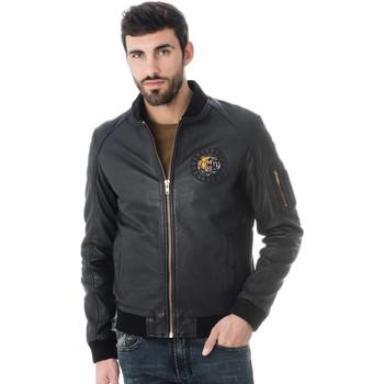 Vêtements Homme Vestes en cuir / synthétiques Serge Pariente BOMBSTER OURS GOLD BLACK Noir/or