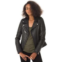 Vêtements Femme Vestes en cuir / synthétiques Serge Pariente HIPSTER GIRL NOIR Noir