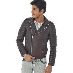 Vêtements Homme Vestes en cuir / synthétiques Serge Pariente HIPSTER BORDEAUX Bordeaux
