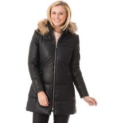 Vêtements Femme Vestes en cuir / synthétiques Rose Garden ANOUK HOOD SHEEP VENNE BLACK Noir