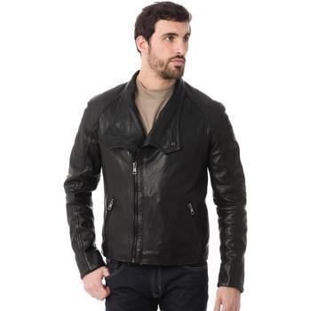 Vêtements Homme Vestes en cuir / synthétiques Serge Pariente YOANO BLACK ZZ Noir