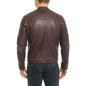 Vêtements Homme Vestes en cuir / synthétiques Serge Pariente SH COOL BROWN ZZ Marron foncé