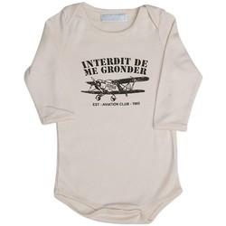 Vêtements Enfant Pyjamas / Chemises de nuit Interdit De Me Gronder PETIT AVIATEUR Beige