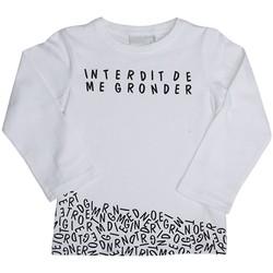 Vêtements Enfant T-shirts manches longues Interdit De Me Gronder DOMINO Blanc