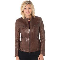 Vêtements Femme Vestes en cuir / synthétiques Rose Garden SILENE SHEEP AOSTA BISON Bison