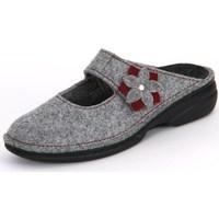 Chaussures Femme Sabots Finn Comfort Arlberg Light Greycassis Wollfilz Gris