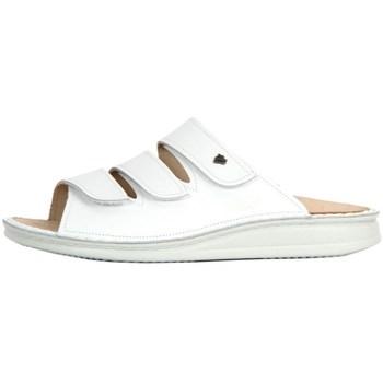 Chaussures Femme Mules Finn Comfort Korfu Weiss Nappa Blanc