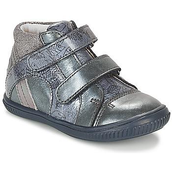 Chaussures Fille Baskets montantes GBB ROXANE Bleu / GRis