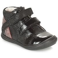 Chaussures Fille Baskets montantes GBB ROXANE Noir / Argent