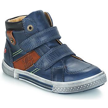 Chaussures Garçon Boots GBB RENDAL BLeu / Marron