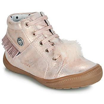 Chaussures Fille Baskets montantes Catimini ROSALIE VTE ROSE POUDRE DPF/2822