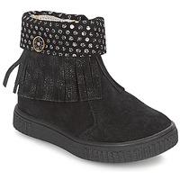 Chaussures Fille Boots Catimini PERETTE Noir / Argent