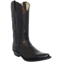 Chaussures Bottes ville Sendra boots Santiags  en cuir ref_sen02799-noir noir