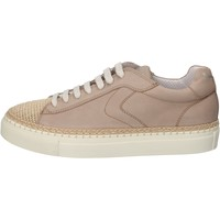 Chaussures Homme Baskets basses Voile Blanche chaussures homme  sneakers beige cuir textile AC600 beige
