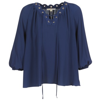 Vêtements Femme Tops / Blouses MICHAEL Michael Kors SCALLP GRMT CHAIN TOP Marine