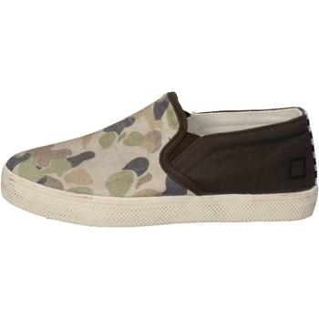 Chaussures Garçon Slip ons Date chaussures garçon D.A.T.E. (DATE) slip on vert textile beige AD8 vert