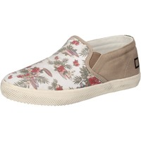Chaussures Fille Slip ons Date chaussures fille D.A.T.E. (DATE) slip on blanc textile beige AD8 blanc