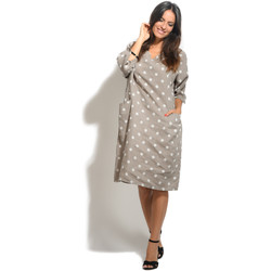 Vêtements Femme Robes 100 % Lin Robe SCARLETT Femme Collection Printemps Eté Taupe