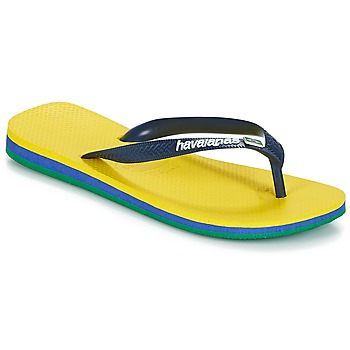 Chaussures Homme Tongs Havaianas Brasil Layers Jaune