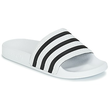 Chaussures Claquettes adidas Originals ADILETTE Blanc / Noir