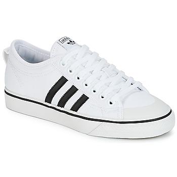 Chaussures Baskets basses adidas Originals NIZZA Blanc / Noir