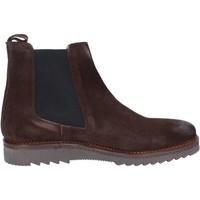 Chaussures Homme Boots Salvo Barone chaussures homme  bottines marron daim BZ141 marron