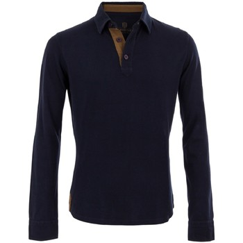 Vêtements Homme Polos manches longues The Weekenders Polo Manches Longues en coton Navy The Mountaineer Bleu marine