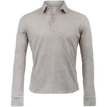 Vêtements Homme Polos manches longues The Weekenders Polo Manches Longues en coton Navy The Mountaineer Gris chiné