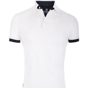 Vêtements Homme Polos manches courtes The Weekenders Polo Manches Courtes en coton Navy The Surfer Blanc