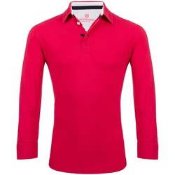Vêtements Homme Polos manches longues The Weekenders Polo Manches Longues en coton The Driver Framboise