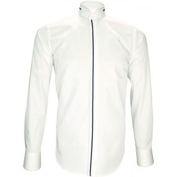 Vêtements Homme Chemises manches longues Andrew Mac Allister chemise ceremonie kenneth blanc Blanc