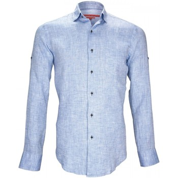 Vêtements Homme Chemises manches longues Andrew Mac Allister 100% lin gao bleu Bleu