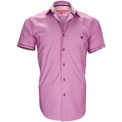 Vêtements Homme Chemises manches courtes Andrew Mac Allister chemisette mode pacific parme Parme