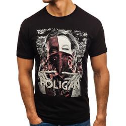 Vêtements Homme T-shirts & Polos Monsieurmode Tee shirt fashion pour homme T-shirt M103 noir Noir
